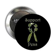 SUPPORT PEAS RIBBON Button