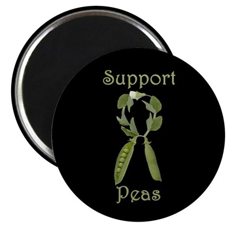 SUPPORT PEAS RIBBON Magnet