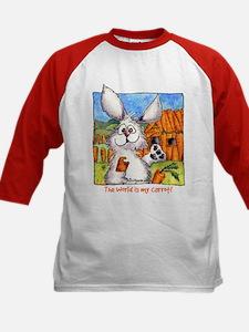 Cartoon Rabbits Kids Baseball Jersey