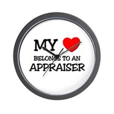 My Heart Belongs To An APPRAISER Wall Clock