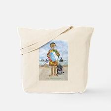 Barack and Bo at the Beach Tote Bag
