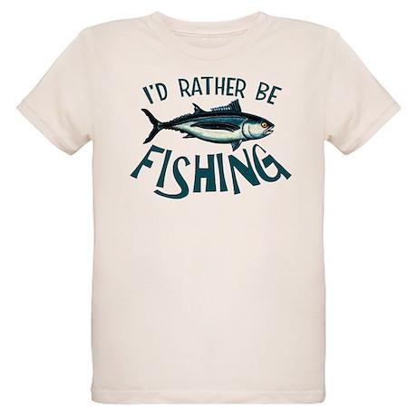 Rather Be Fishing Organic Kids T-Shirt