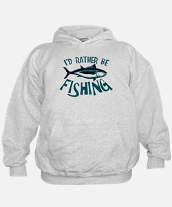 Rather Be Fishing Hoodie