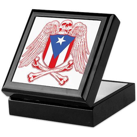 Puerto Rico Crossbones Keepsake Box