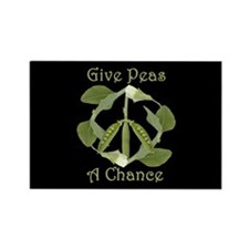 GIVE PEAS A CHANCE Rectangle Magnet