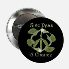 GIVE PEAS A CHANCE Button