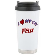 I Love My Cat Felix Travel Mug