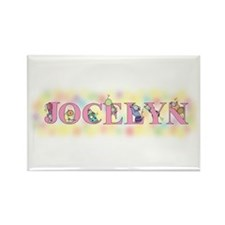 """Jocelyn"" with Mice Rectangle Magnet"