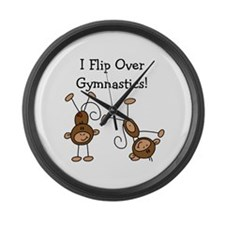 Flip Over Gymnastics Large Wall Clock