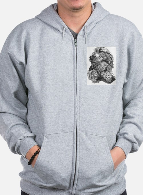 Irish Wolfhound Pair Sweatshirt