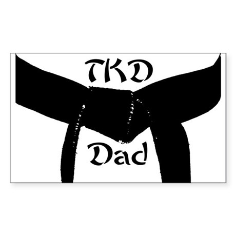 TKD Dad Rectangle Sticker 10 pk)