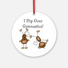 Flip Over Gymnastics Ornament (Round)