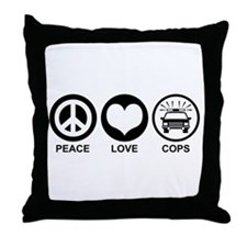 Peace Love Cops Throw Pillow