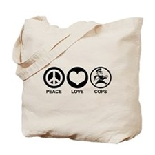 Peace Love Cops Tote Bag