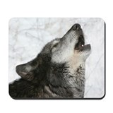 Black wolf Mouse Pads