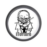 Cheney: iTorture Wall Clock