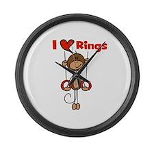 Love Rings Gymnast Large Wall Clock
