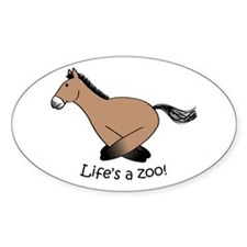 P-horse Oval Decal