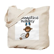 Gymnastics Monkey Tote Bag