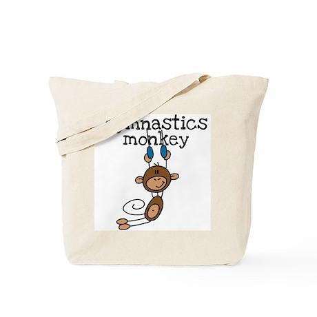 Gymnastics Monkey Tote Bag