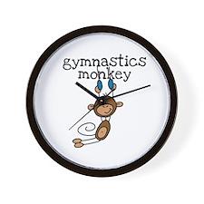 Gymnastics Monkey Wall Clock