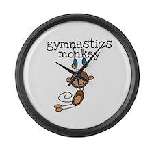 Gymnastics Monkey Large Wall Clock