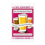 """SBP """"We Support"""" Door Sticker"""