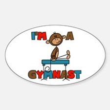 I'm a Gymnast Oval Decal