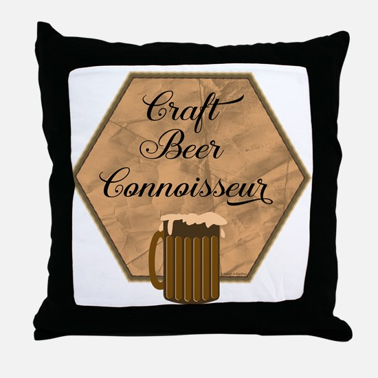 Craft Beer Connoisseur Throw Pillow