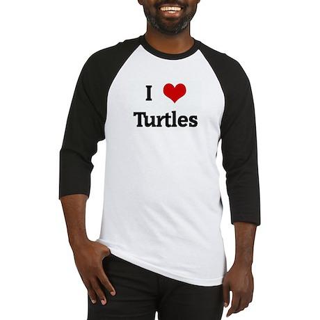 I Love Turtles Baseball Jersey