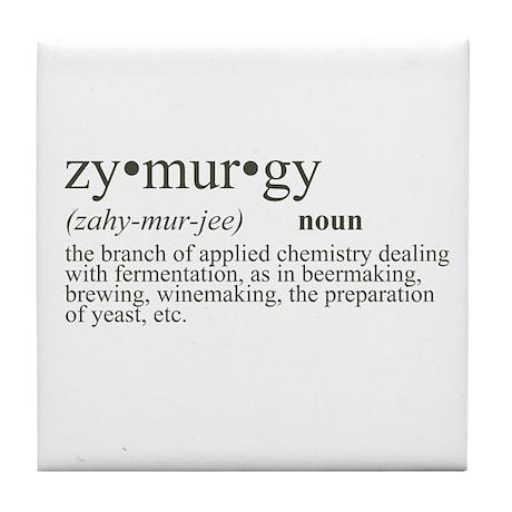 Zymurgy Definition Tile Coaster