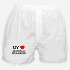 My Heart Belongs To An AID WORKER Boxer Shorts