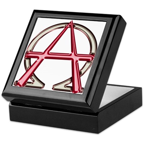 Alpha & Omega Anarchy Symbol Keepsake Box