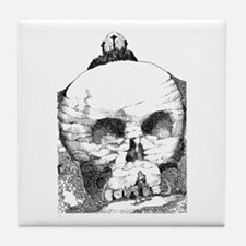 They Mocked and Crucified Him Tile Coaster