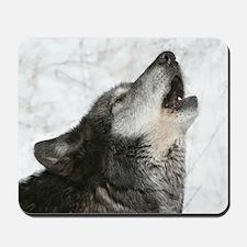 Singing wolf mousepad