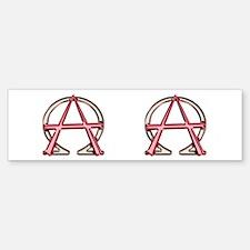 Alpha & Omega Anarchy Symbol Bumper Bumper Bumper Sticker