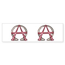 Alpha & Omega Anarchy Symbol Bumper Bumper Sticker