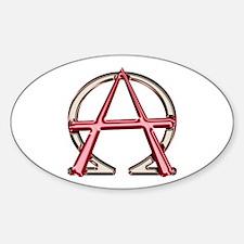 Alpha & Omega Anarchy Symbol Oval Decal