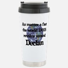 World Revolves Around Declan Travel Mug
