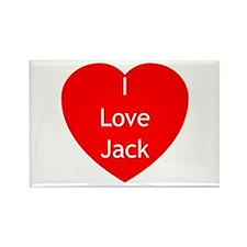TW Love Jack Rectangle Magnet