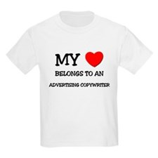 My Heart Belongs To An ADVERTISING COPYWRITER T-Shirt