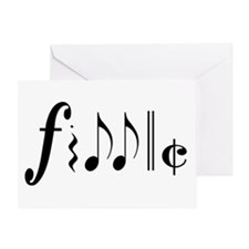Great NEW fiddle design! Greeting Card