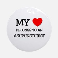 My Heart Belongs To An ACUPUNCTURIST Ornament (Rou