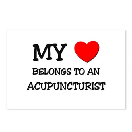 My Heart Belongs To An ACUPUNCTURIST Postcards (Pa