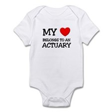My Heart Belongs To An ACTUARY Infant Bodysuit
