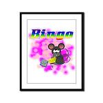 Bingo 3D Mouse Framed Panel Print