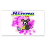 Bingo 3D Mouse Rectangle Sticker 10 pk)