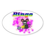 Bingo 3D Mouse Oval Sticker (50 pk)