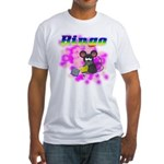 Bingo 3D Mouse Fitted T-Shirt
