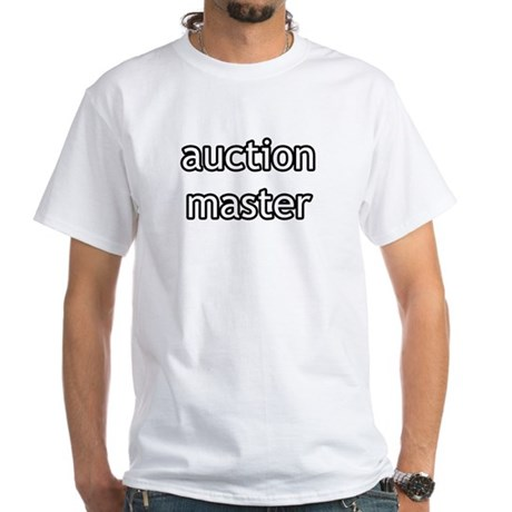 Auction Master Product Line White T-Shirt